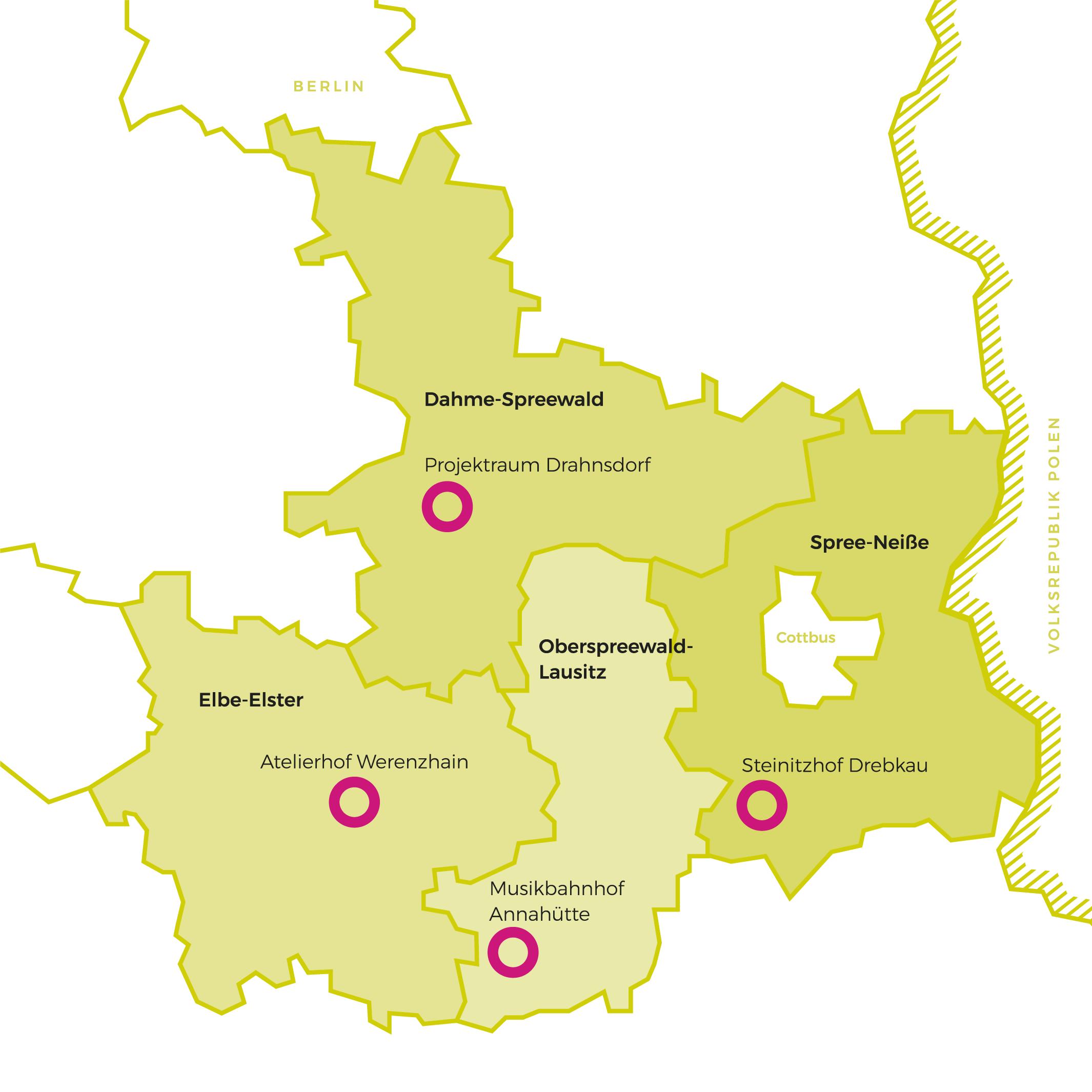 Karte Landkreise